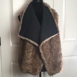 Mossimo Faux Fur Reversible Vest